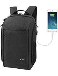 "SLOTRA Carry On Travel Backpack 25L With Laptop Compartment And USB Charging Port Laptop Rucksack For 15.6"" Notebook..."