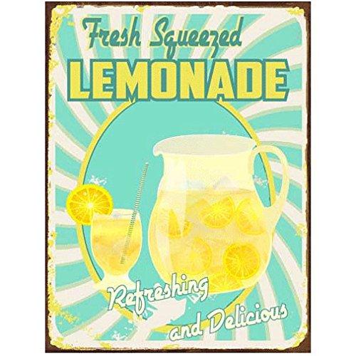 Frisch gepresste Lemonade Metallschild, Retro Diner, Cafe, Dekor, Küchen aufwertet