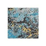 Efco Feuille de Cire Marbre Bleu/Argent 200 x 100 x 0,5mm