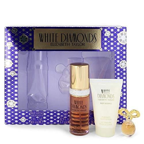 White Diamonds Tester (WHITE DIAMONDS by Elizabeth Taylor Gift Set - 1 oz Eau De Toilette Spray + .12 oz Min EDP + 1.7 oz Body Lotion / - (Women))