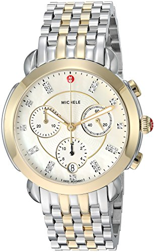 Michele Women's Swiss Quartz Stainless Steel Casual Watch, Color Two Tone (Model: MWW30A000022)