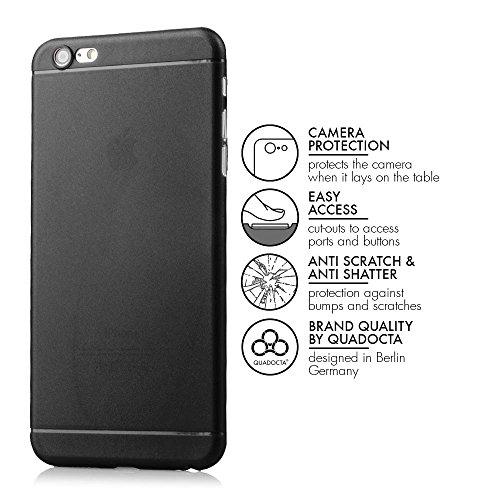 """iPhone 6/6s Plus (5,5"""") Ultra Slim Case - Schutzhülle - """"Gracili"""" in Schwarz - Ultra dünne iPhone Hülle mit Kameraschutz- Leicht transparentes Case mit Rundumschutz - Extrem dünnes Etui als premium Zu schwarz"""