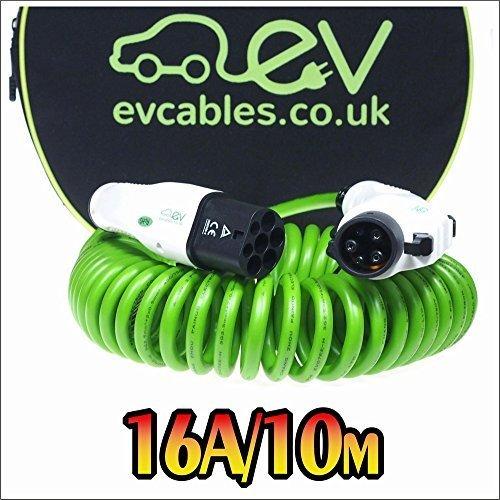 EV Cables CHC007-S(10M) Cavo di Ricarica per Le Auto Elettriche a Spirale con Il Sacchetto, 16A, 10M