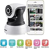 IP Camera, LESHP 720P Wireless WIFI HD Pan Tilt IP Cam Home Surveillance Security Webcam System Video Recording Sonic Recognition (Day/Night Vision, Indoor CCTV with 2 Way Audio, Micro SD Card Slot, Motion Detection) (Upgraded Version)