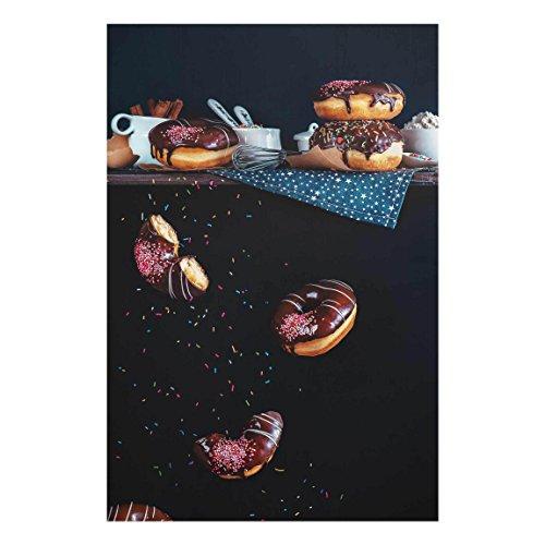 Bilderwelten Glasbild Wandbild Glas Kunstdruck Donuts vom Küchenregal 60 cm x 40 cm