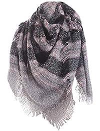 Echarpe Femme Carreaux,Internet ÉCharpe Foulard - Douce Chaude Grand Tartan  Ecossaise Stole Pour Automne c96013d4ee8