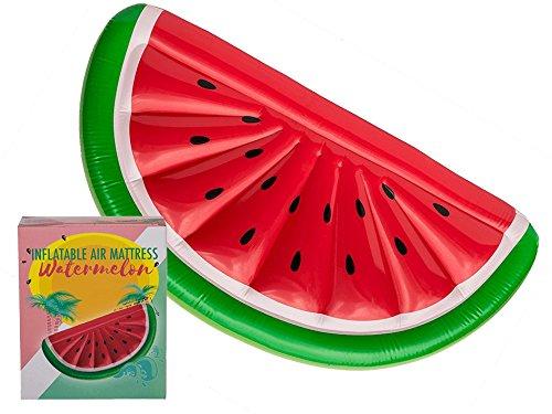 Ootb anguria gonfiabile materasso ad aria, verde/rosso/bianco, taglia unica