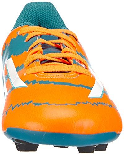Adidas - Messi 10.4 Fxg Junior, Scarpe Da Calcio per bambini e ragazzi Arancione-Azzuro-Bianco