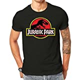Jurassic Park Vintage Distressed Printed T Shirt Black Screen Printed Design All Sizes