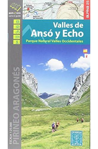 Valles de Ansó y Echo 1:25.000