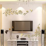 Best Decals for the Wall Mirrors - ufengke® 3D Diagonal Flowers Mirror Effect Wall Stickers Review
