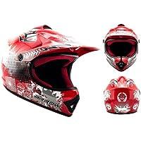 """Armor · AKC-49 """"Red"""" (red) · Casco Moto-Cross · Enduro Quad Racing motocicleta Scooter NINOS Off-Road · DOT certificado · Click-n-Secure™ Clip · Bolsa de transporte · S (53-54cm)"""