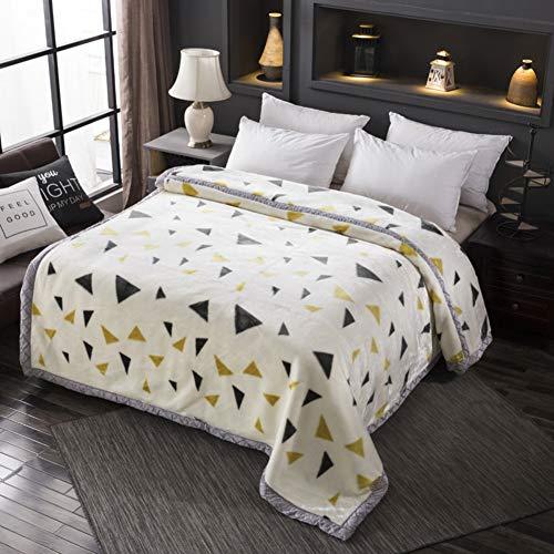 YUMUO Korallen Decke, Ultra-warme Velvet Twin Size Die Ganze Saison Leicht,Falten-resistente Decke Für Zuhause Schlafzimmer -k 200x230cm(79x91inch)