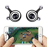 SeCro [2 Packs] Touch Screen Rocker Controller Joypad for Smartphone iPhone iPad Tablet (Black)