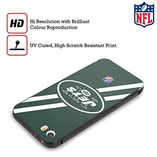 Offizielle NFL Streifen New York Jets Logo Schwarz Rahmen Hülle mit Bumper aus Aluminium für Apple iPhone 5 / 5s / SE Streifen