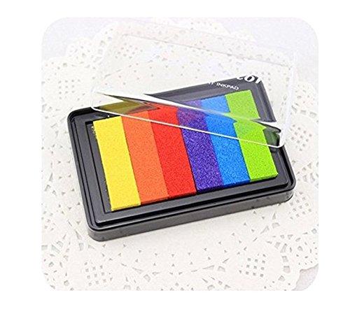 Yeah67886Stempelkissen mit Regenbogenfarben, Set mit 6Farben