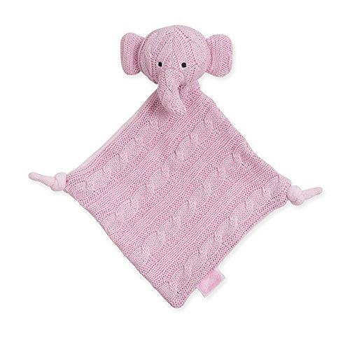 Jollein 041-001-64896 Schmusetuch Strick Elefant rosa