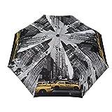 SMATI Paraguas Plegable New York Taxi Super Sólido - Abre-Cierra automático Antiviento