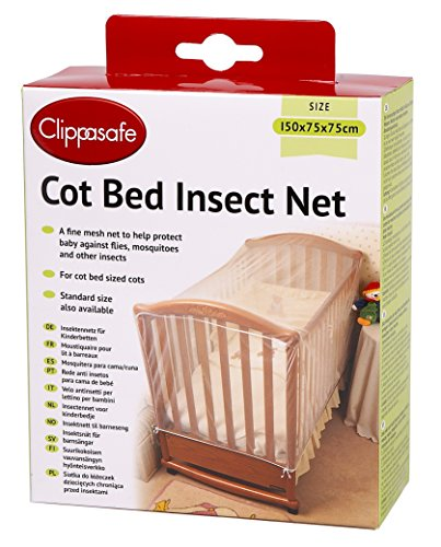 Preisvergleich Produktbild Clippasafe Kinderbett Insektennetz, Groß (150 x75x75cm)