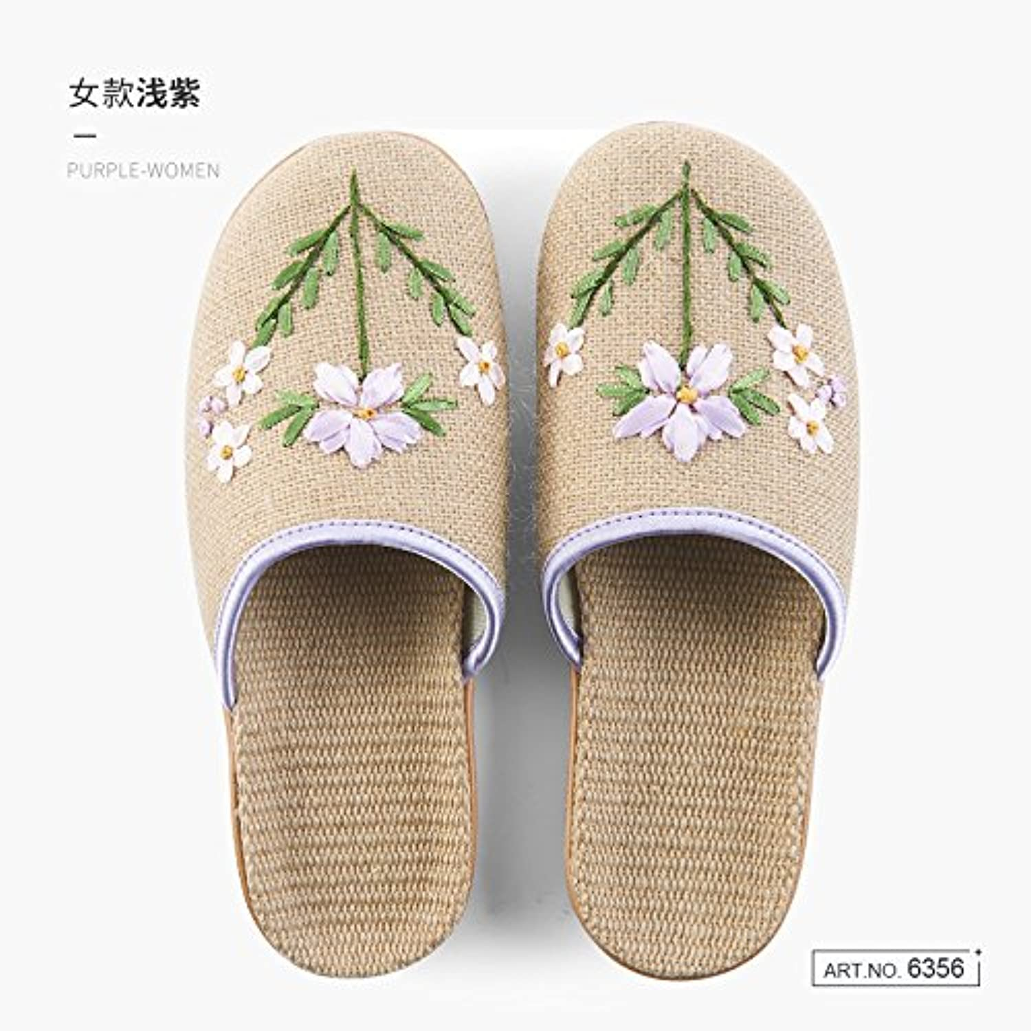 fankou Spring and with summer couples stay cool with and a linen slippers female lovely wooden floor indoor slippers male... Parent 1180f1