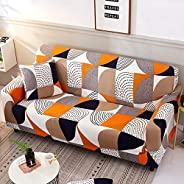 Nordmiex Stretch Sofa Slipcovers Fitted Furniture Protector Print Sofa Cover Stylish Fabric Couch Cover with 2