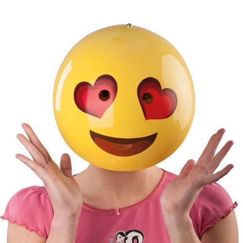 Generique - Verliebte Smiley Maske gelb-rot