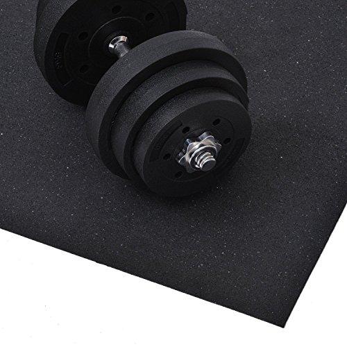 HOMCOM® Bodenschutzmatte für Fitnessgeräte Bodenmatte Unterlegmatte Matte 220x110cm