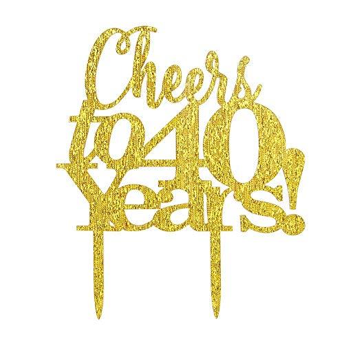 au 40ans gâteau Joyeux anniversaire 40ans anniversaire Fabulous 40Fête Décoration Fournitures ()