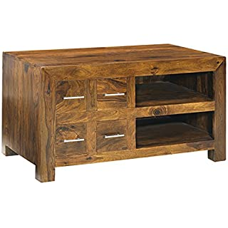 Asia Dragon Cuba Cube Sheesham TV Cabinet