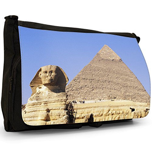 Fancy A Bag Borsa Messenger nero Egypt Pyramid & Sphinx Giza Egypt Pyramid & Sphinx Giza