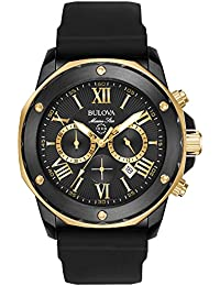 Bulova Men's Quartz Stainless Steel and Silicone Casual Watch Color:Black (Model: 98B278)