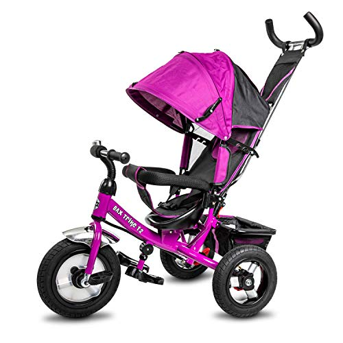 BAX Dreirad Trike T2 AIRwheel Schiebe- und Lenkstange Sonnendach Luftreifen Kind