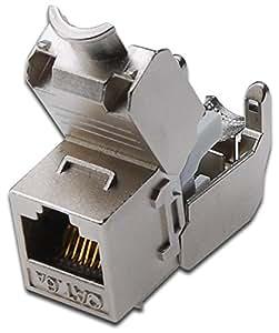 DIGITUS Lot de 8 Keystones module Cat 6A blindé 500MHz Gris