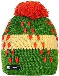 Unisex Chapeau d'hiver Winter Beanie Bonnet Laine Wool hat Hats Flame Femme Homme Ski Snowboard 4sold (Fluocco 109)
