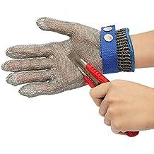 MOHOO Guanti/Protezione Alta Prestazione Cut sicurezza Proof Stab resistente in acciaio inossidabile maglia del metallo Butcher Glove clip