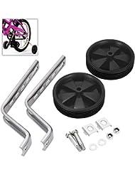 Universal para bicicleta ruedas de 12a 20inch ruedas niños bicicleta ruedas estabilizador, negro