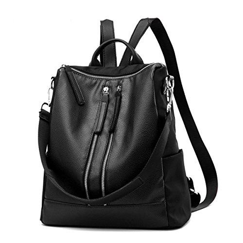 La Signora Del Sacchetto Di Spalla Semplice Personalità PU Soft Completa Impermeabile Black