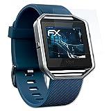 Fitbit Blaze Folie - 3 x atFoliX FX-Shock-Clear stoßabsorbierende ultraklare Panzerfolie Displayschutzfolie