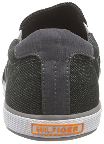 Tommy Hilfiger Scarpe Low-Top, Uomo Grigio (Black Denim 070)