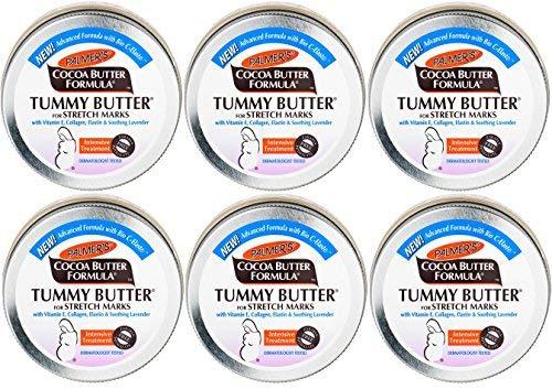 Palmer 's Cocoa Butter Formula Tummy Butter für Dehnungsstreifen 125g (6Stück) - Palmers Shea Butter Formula Mit Vitamin E