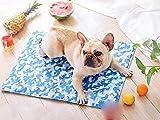 STAZSX Haustier-Eis-Pad-Hundematte Hundematte Wasserdichte Sommer Teddy-Hundehütte Katze Cool Pad Großen Hund Schlafen Pad Sommer M: 50X65CM