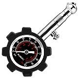 Suaoki Manometro Pressione Pneumatici 0-100 PSI / 6,8 BAR con Quadrante Precisione ±2 PSI, Adatto per Camion, Pneumatici Auto e Moto