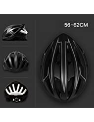 HYF-Aegis Smart luces de color Casco de bicicleta, carretera / mountain bike equipado con USB de carga con casco ligero , ash black