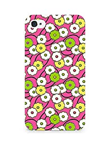 Amez designer printed 3d premium high quality back case cover for Apple iPhone 4 (Dandelion drawing face flowers)