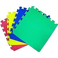 Alfombra JSG Accessories® protectora de suelos para interior y exterior, para niños, 9 piezas de espuma entrelazables, multicolor (rojo, azul, verde, amarillo), Unisex, Eva30-mix, multicolor