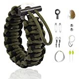 The Friendly Swede Pulsera en Paracord Multi-Uso con Kit de Supervivencia para Acampada y Senderismo...