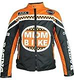 Textil Motorradjacke (L, Orange)