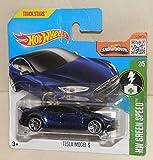 HOT WHEELS® Tesla Model S - 1:64 - nachtblau (HW Edition Green Speed)