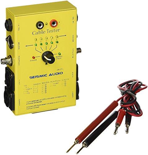 Seismic Audio–Kabel Tester–XLR, 1/10,2cm TRS, 1/10,2cm TS, Speakon (2und 4Pole), Cinch, Midi (3und 5Pin). Inkl. Messleitungen. Akustischer Test Ton. Boutique Look. Schwere Pflicht