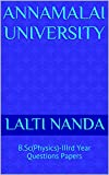 Annamalai University: B.Sc(Physics)-IIIrd Year Questions Papers (English Edition)